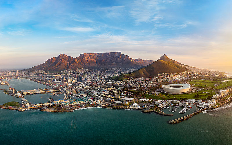 Aerial picture of Cape Town, South Africa